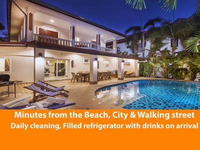 Photo for Villa Waree 6 bedrooms with private pool, only 5 minutes away Pattaya