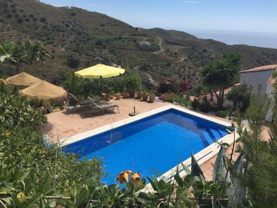 Photo for Fantastic rustic finca with private pool, sea views and Internet (flat rate)
