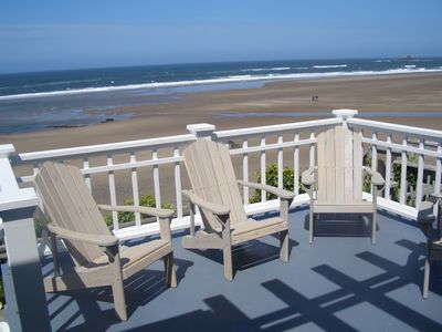 Photo for Beachfront , private beach steps , Great Room overlooks beach & tide pools