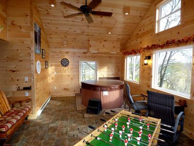 Photo for Sweet Heart Romantic Log Cabin in Hocking Hills w/Indoor Hot Tub & Game Room