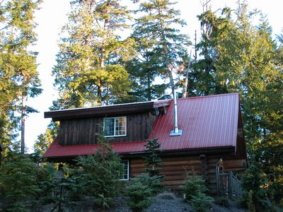 Photo for Florencia Bay Hideaway ~ Very Private Log Chalet ~ Hot Tub ~ Walk to Beach
