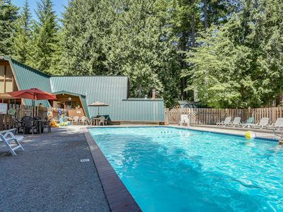 Photo for Cozy & warm condo with a shared deck, firepit & river views!