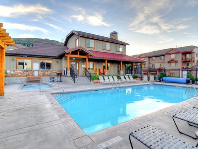 Photo for Spacious, contemporary mountain lodge home w/ shared hot tub & pool!