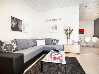 Photo for Pina Apartment inside small shopping center near the sea