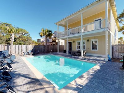 Photo for NEW LISTING! Large home near the beach w/ 4 master suites, pool/basketball court