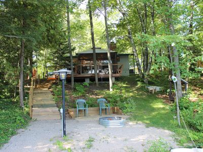 Photo for Private Cottage With Direct Frontage On Lake, 10 Min. To Downtown Traverse