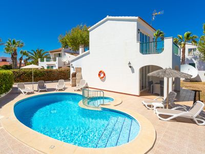Photo for Villa Carolina: Large Private Pool, Walk to Beach, A/C, WiFi, Car Not Required