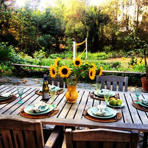 Alfresco dining year-round