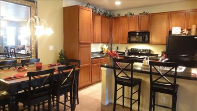 Fully appointed kitchen with granite counters. Condiments provided!