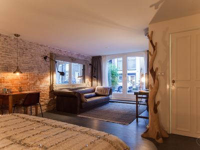 Photo for Fashionable studio apartment, for up to two people, superbly located in Amsterdam?s bustling Pijp di