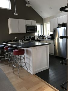 Kitchen - all new stainless steel appliances.