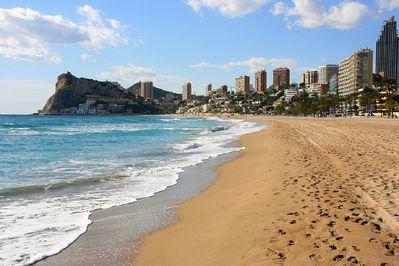 Our end of the Poniente Beach