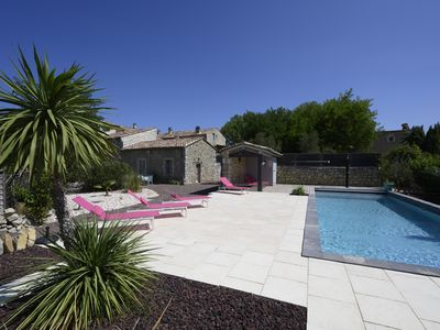 Photo for Bergerie 7ch, Lussan (Uzès), swimming pool