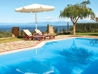 Photo for Stunning sea views  with pool, Wi-Fi and Air conditioning, close to quaint village and fabulous beaches.