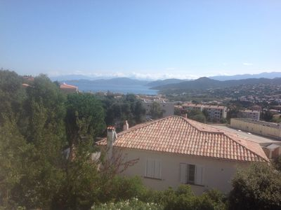 Photo for large air-conditioned studio with mezzanine of 32 m2 sea view in L'ILE ROUSSE