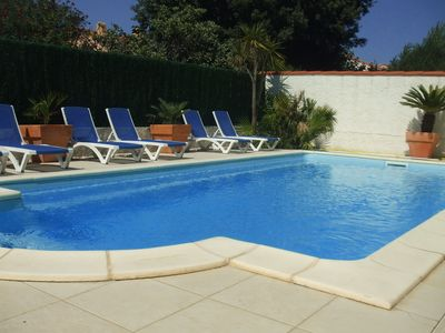 Photo for Villa, Heated pool, air-conditioned, beaches, terraces, WIFI,