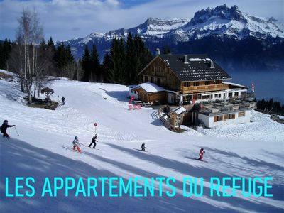 Photo for 3 * Apartment '' Mont Blanc '', 125m², on the slopes, 8 to 10 pers