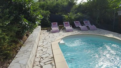 Photo for Pretty Villa Creole wood, with swimming pool