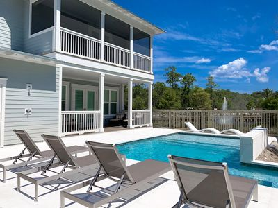 Photo for Private Pool! 6 Seater Golf Cart! 4 Bikes! OVER 2,500 SQ FT! Southern Grace at Naturewalk 30A