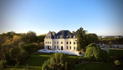 Photo for Napoleonic Chateau With Private Pool, 30mins To Bordeaux