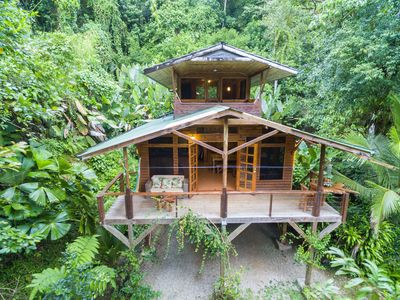 Photo for Nature Lover's Paradise! Treetop Cabin in Private Rainforest Reserve,Waterfalls!