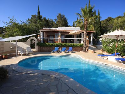 Photo for Secluded Villa with scenic views , close to Sta Eulalia and its beaches.