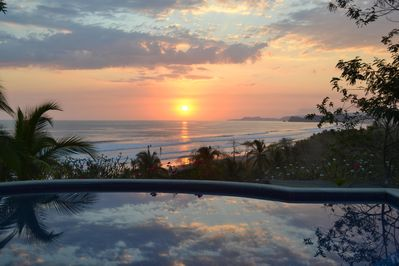 Extraordinary views of the sunset every night, while enjoying a dip in the pool!