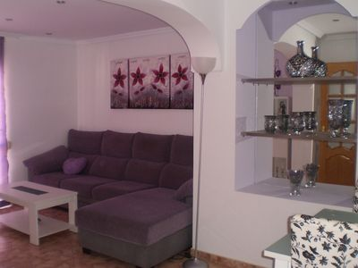 Photo for Very bright and quiet apartment with 3 bedrooms. doubles and private terrace, wifi