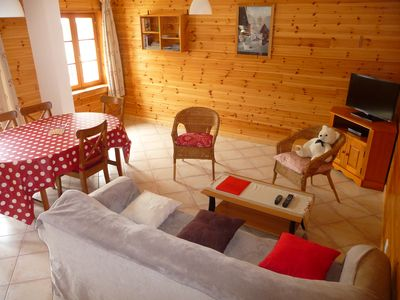 Photo for Near Briançon Serre Chevalier chalet-style cottage ***, comfortable, quiet. 2 bedrooms 4/5 pers. Alpine skiing, Cross, ideal conditions for hiking. WIFI INTERNET