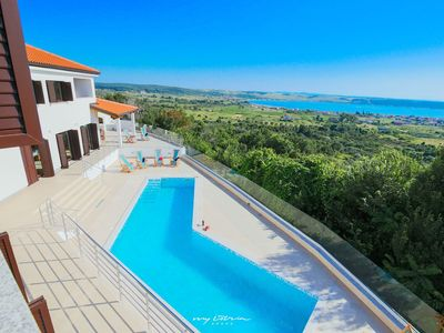 Photo for Beautiful villa with private pool & sea view