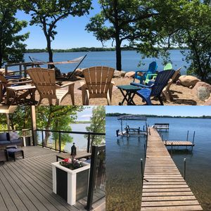 Photo for Secluded Lakefront: Peaceful, 3BR 1BA sleeps 10 Spacious Walkout Suite to Lake.