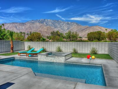 Photo for Built 2015! Mid-Century Home-3 Bed/3 Bath-Views+Privacy+Salt Water Pool & Spa