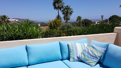 Photo for Luxurious holiday home with sea view, La Manga Club - Los Olivos, 3 swimming pools