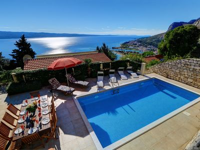 Photo for Spacious villa with private pool and breath taking sea view terraces