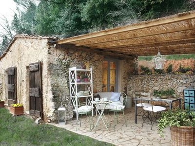 Photo for Cottage on the hills of the Versilia, private pool and garden, outdoor are for dining al fresco