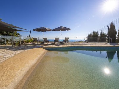 Photo for A stone built  single storey villa that sleeps 6 guests in 3 bedrooms/ amazing sea views