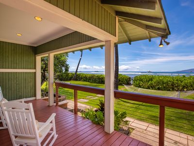 Photo for Beach Front!  Walk to Front St. Lahaina!  Private 4 Bedroom Home on Sandy Beach!