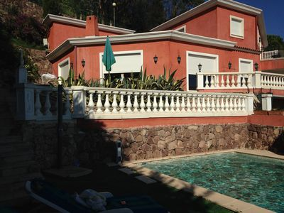 Photo for Amazing villa with panoramic sea views and pool