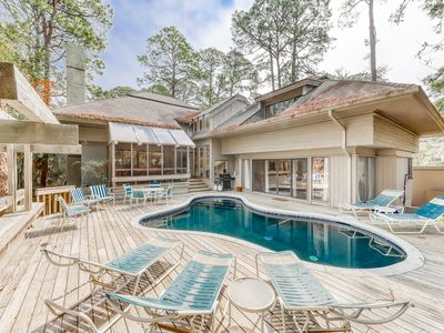 Photo for Gorgeous home by the beach with a private pool in Sea Pines Plantation