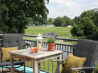 Photo for Potsdam - stylish 120m², central, quiet, Waterfront, garden, 3 balconies, fireplace