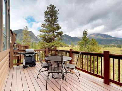 Photo for NEW LISTING! Beautiful condo with private hot tub, lake views, and fireplace