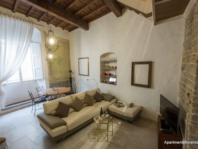 Photo for A recently renovated 3-bedroom, 2-bathroom loft apartment in the center of Florence .