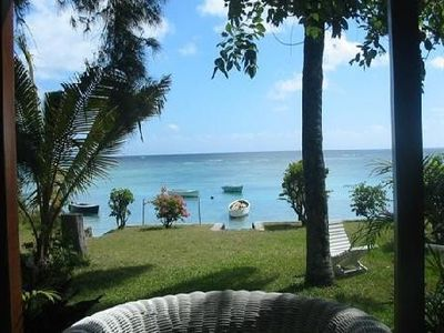 Photo for Independent villa directly on the sea at Trou Aux Biches.