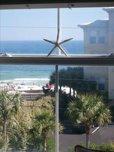 Photo for Panoramic Gulf Views, Steps to beach/30A, Top corner unit.