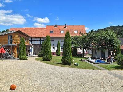 Photo for Holiday farm situated next to the Kellerwald-Edersee national park with a sunbathing lawn