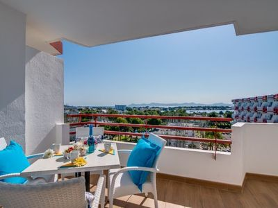 Photo for Port d'Alcudia Apartment, Sleeps 4 with Pool, Air Con and WiFi