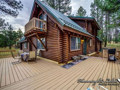 Photo for Logged Inn: No need to 'log-in' for a great stay at this wonderful log home. With hot tub.