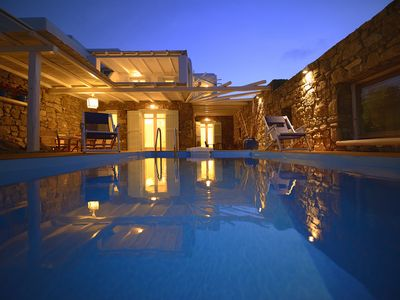 Photo for Villa Elanora Mykonos, 3-bedroom villa in Panormos, Private Pool, 800m from the beach up to 6 Guests