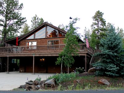 Photo for Relaxing Log Cabin Retreat in the Pines