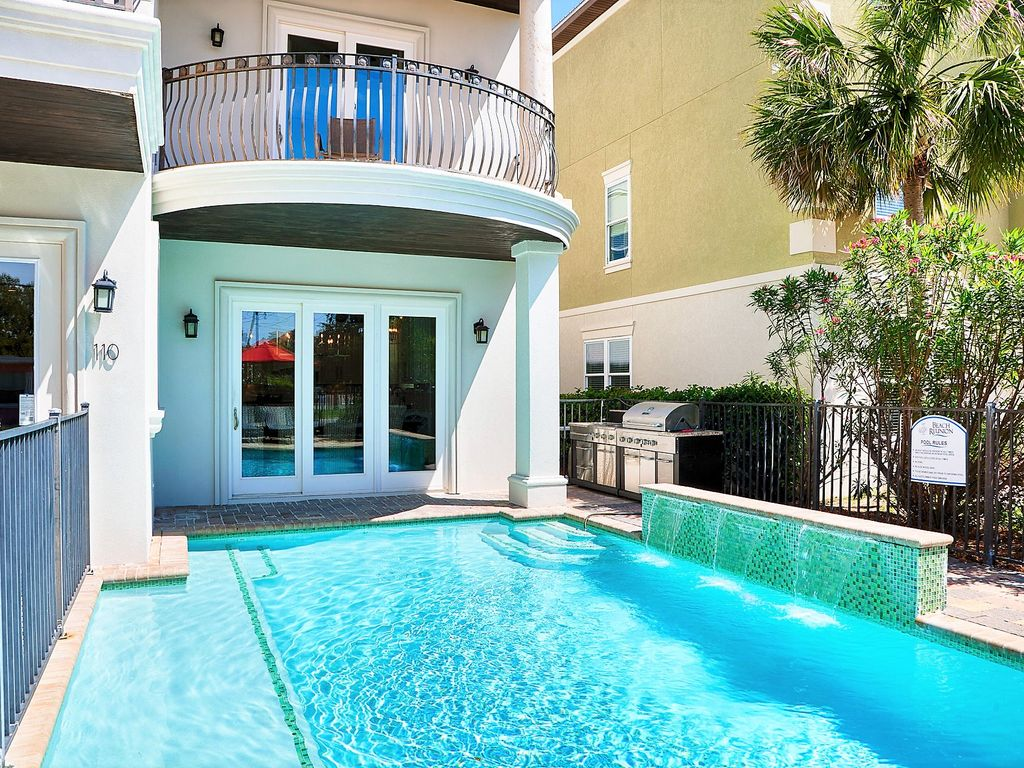 Adonis Completely Upgraded 11 Bedroom Home W Private Pool Game Room Miramar Beach Florida